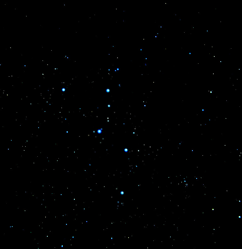 Galaxia night language for Constellation ceiling mural